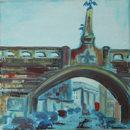 Munich - Gebsattel, 20 x 20 cm, oil on canvas