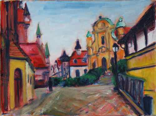 Munich view oil painting