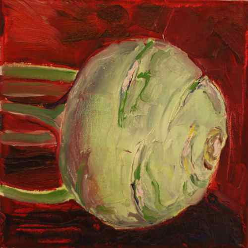 oil painting of kohlrabi
