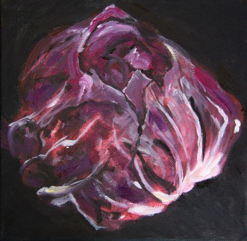 Radicchio, 20 x 20 cm, oil on canvas