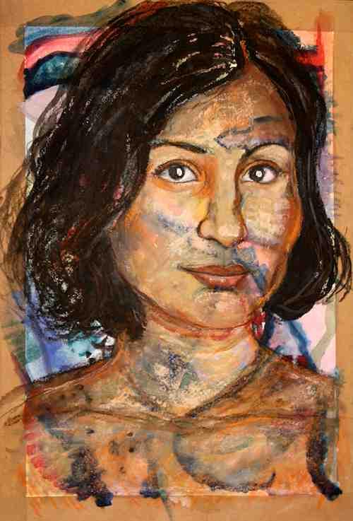 Anita Portrait on Paper