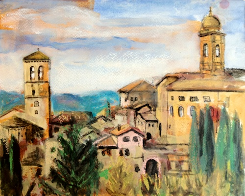 Assisi View Mixed Media