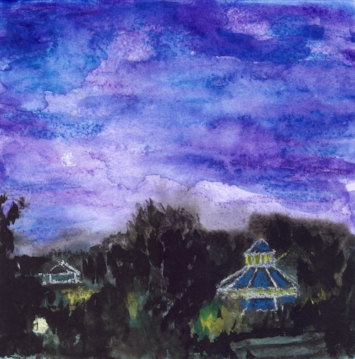 Chattanooga Carousel at Night mixed-media artwork