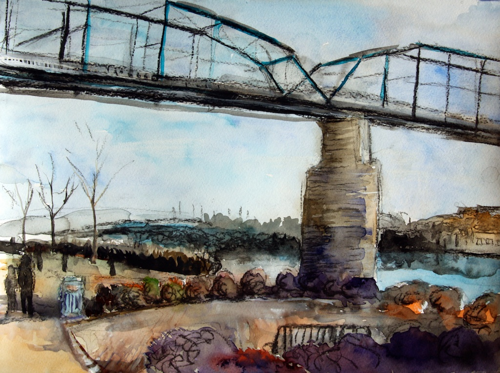 Chattanooga Walnut Street Bridge art