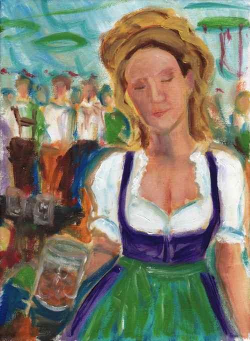 Daily Painting: Oktoberfest Dirndl study