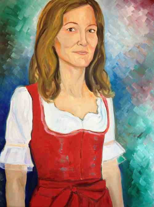 Dirndl Portrait in progress - Kim