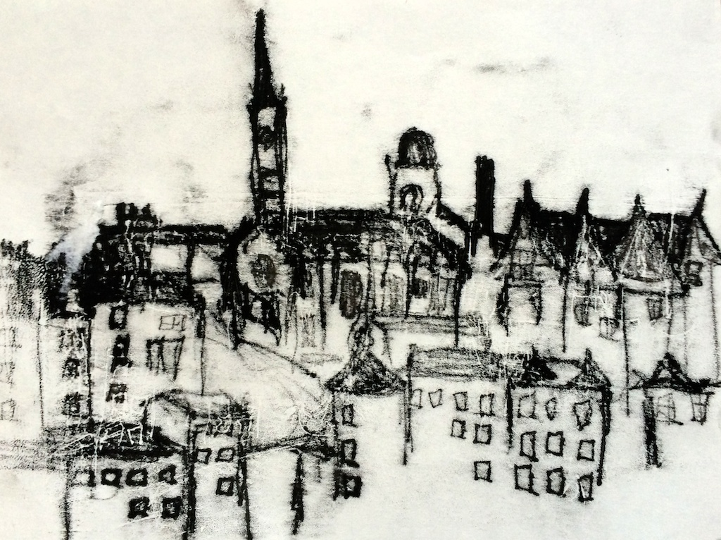 Edinburgh monoprint