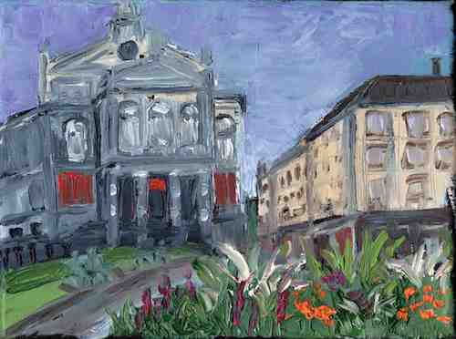 Painting: Gärtnerplatz, Munich study