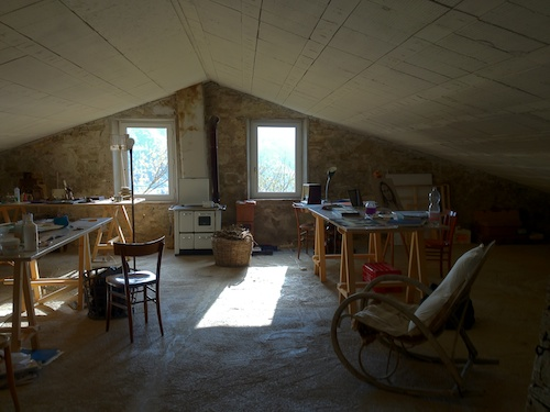the shared studio at Ginestrelle