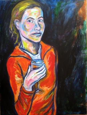 Jessica, 60 x 80 cm, acrylic on canvas