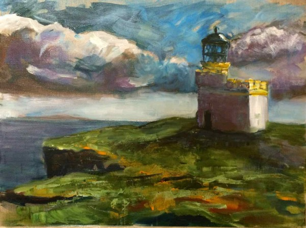 Orkney Lighthouse Painting