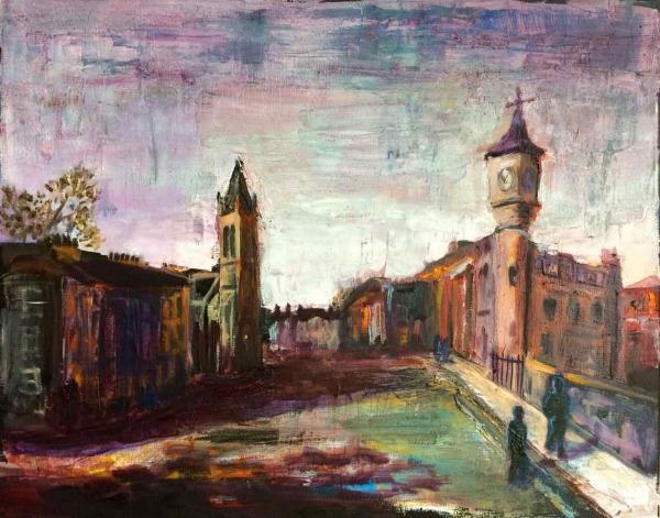Stockbridge Edinburgh painting