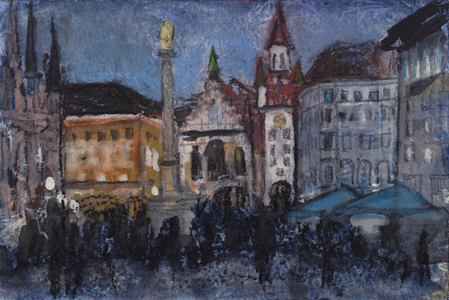 Munich Marienplatz Mixed Media