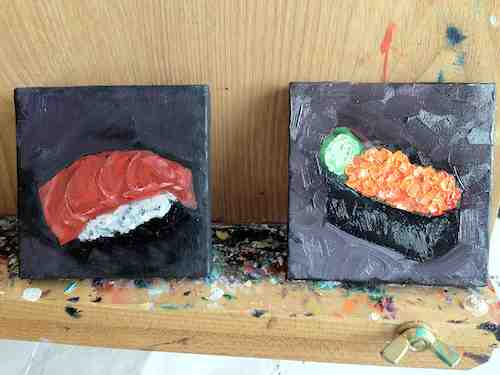 Mini Sushi Paintings