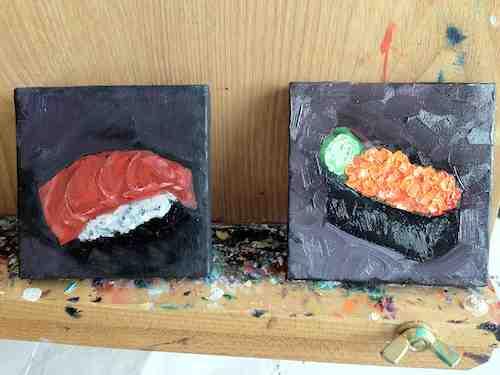 Mini Sushi Paintings