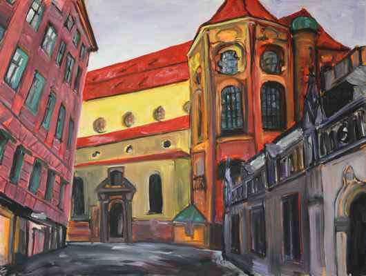 Munich - Alter Peter #1 original oil painting