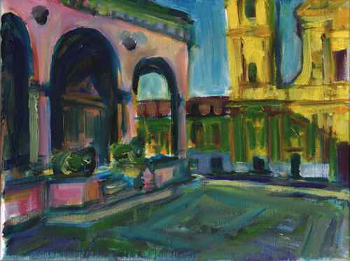 Munich Odeonsplatz - original oil painting