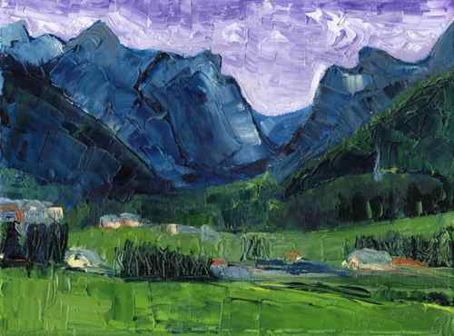 Daily Painting: Oetz Valley, Austria