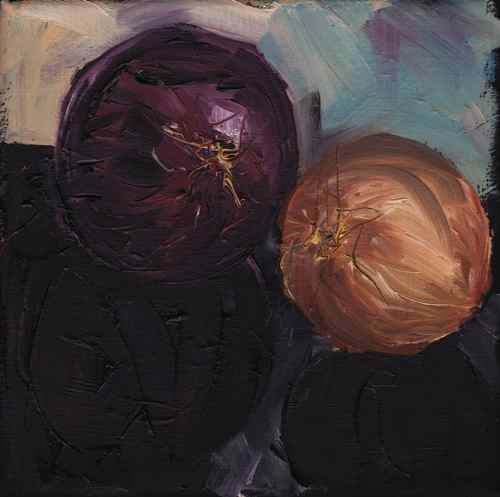 Original oil painting: Onions #3