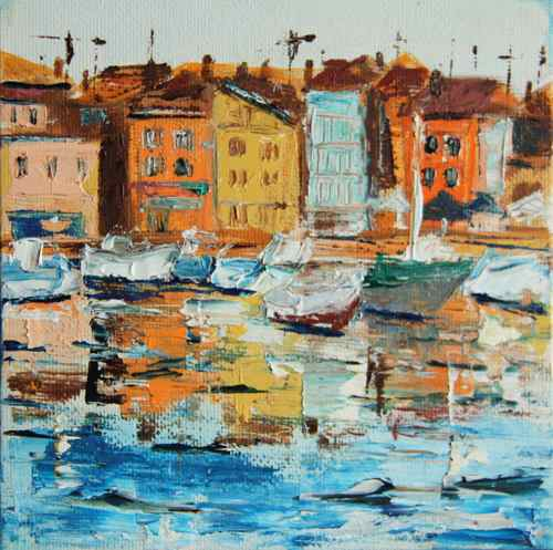 daily painting: a Croatian harbor town