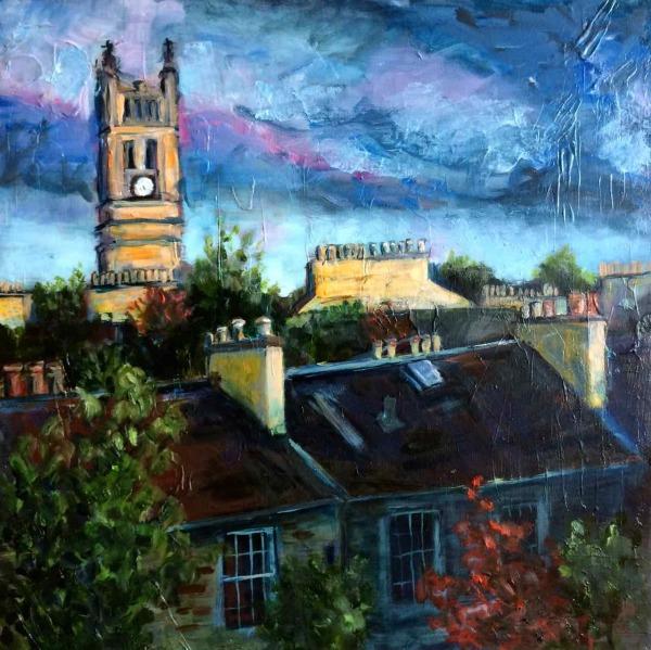 Stockbridge Rooftops by Julie Galante