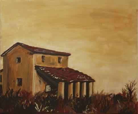 Tuscan farmhouse yellow
