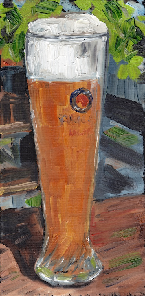 Portrait of a Weissbier original oil painting