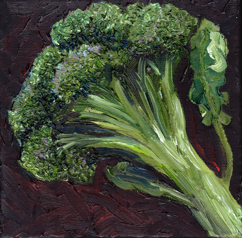 broccoli oil painting