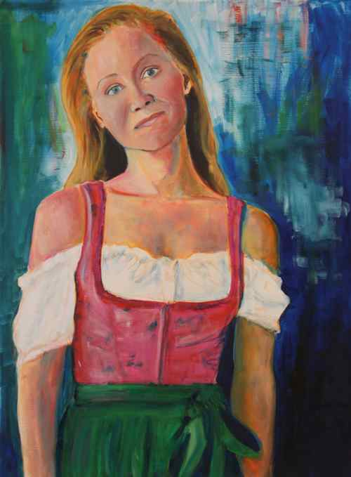 Dirndl portrait in progress