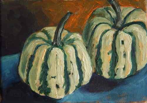 Dumpling squash painting