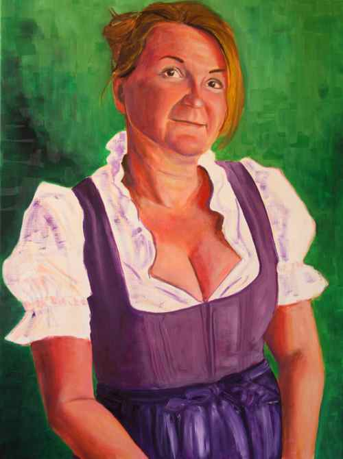 dirndl painting in progress