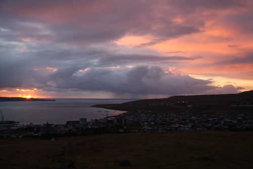 Sunrise over Torshavn, Faroe Islands