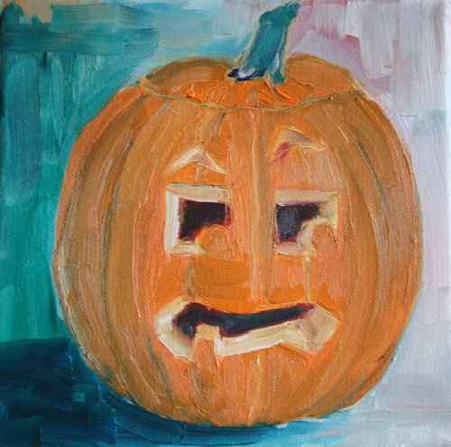 jack-o-lantern painting