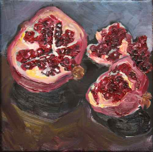fresh pomegranate painting