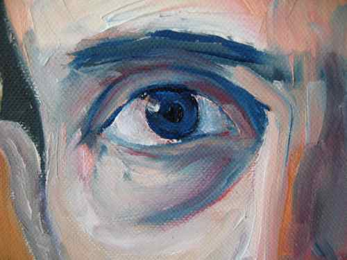 oil painting - portrait detail