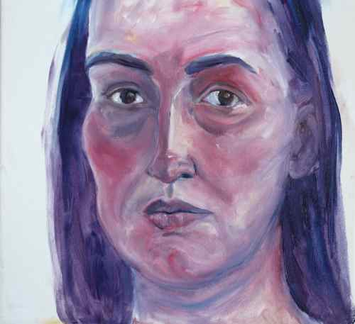 oil painting portrait on canvas