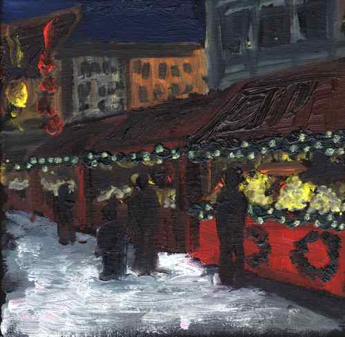 Painting: Christmas Market at Marienplatz