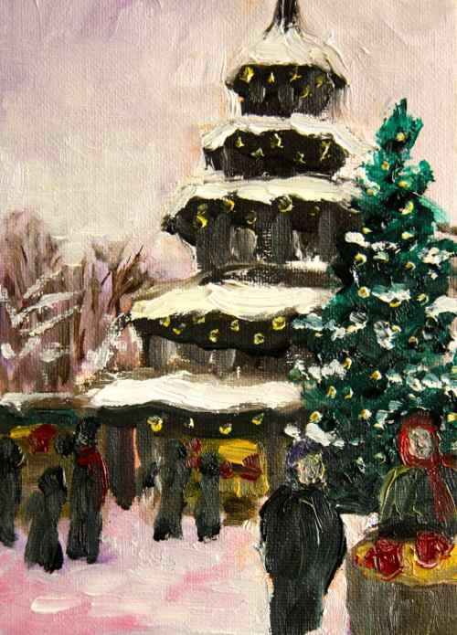 Painting: postcard from the Christmas market
