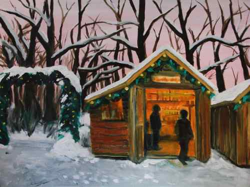 Christmas market in the forest