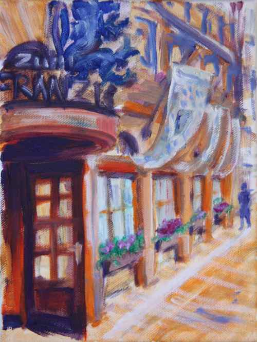 oil painting: zum Franziskaner in Munich, Germany